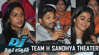 DJ Duvvada Jagannadham Team Watches Dj Movie @ Sandhya Theater | TFPC