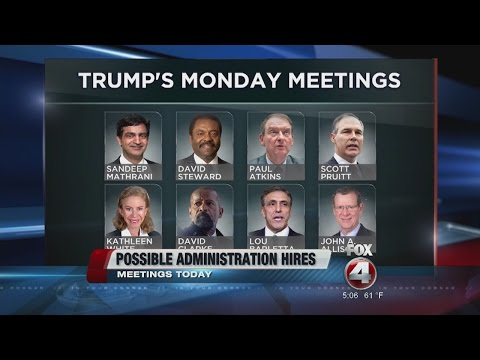 Trump holds meetings for transition team recruitment