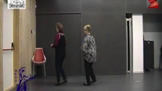 la chica de rojo 1 bailes en linea gente mayor senior linedance instrucciones baile