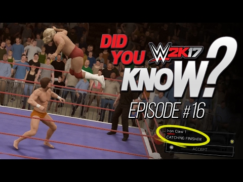 WWE 2K17: Did You Know? New Catching Finisher, Audio Outtake Accidentally Added & More! (Episode 16)