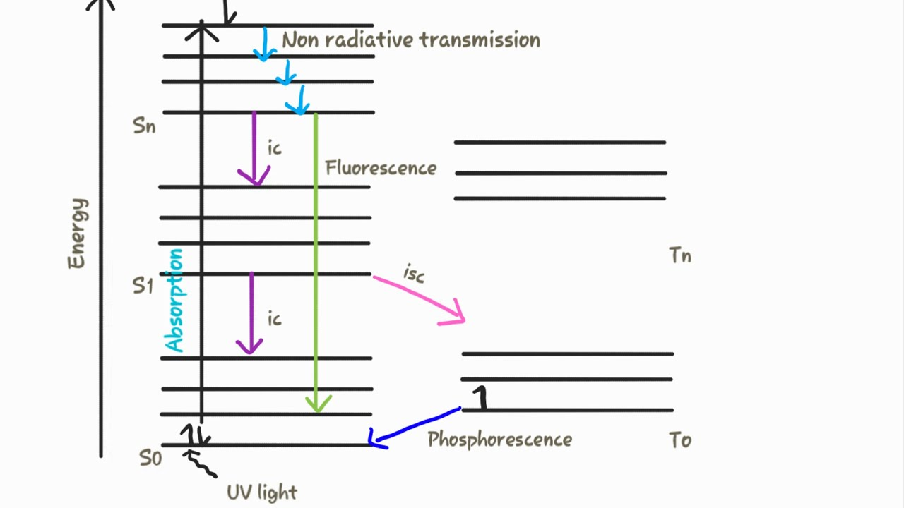 hight resolution of jablonski diagram perrrin jablonski diagram