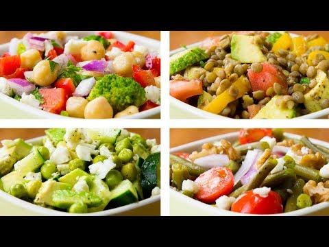 4 Vegetable Salad Recipes For Weight Loss   Healthy Salad Recipes