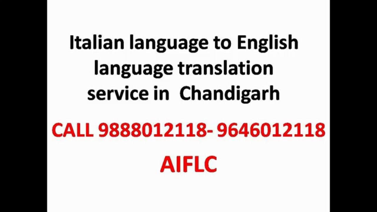 Italian Language Translation To English: Italian To English Language Translation Services In