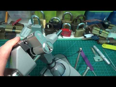 Взлом отмычками ABUS      120 ABUS PFAFFENHAIN 11 ACTIVE PINS TUMBLER LOCK SPP GUTTED