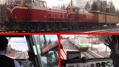 Finnish Dv15 diesel locomotive cabride from Ylivieska to Oulu