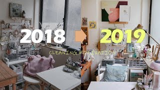 CLEAN WITH ME 2019 跟我一起重新收納整理自己的工作環境/CLEANING MOTIVATION/CLEANING ROUTINE