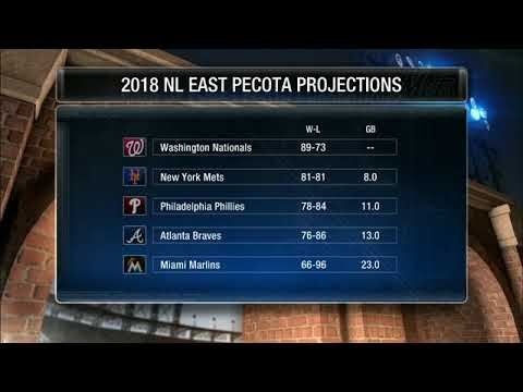 Where does PECOTA project the New York Mets in 2018?