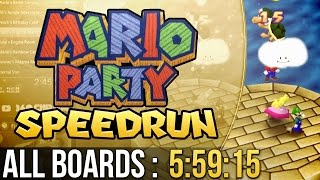 Mario Party All Boards Speedrun (Normal) in 5:59:15
