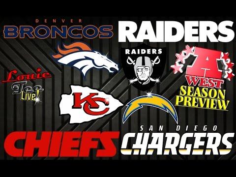 2016 NFL Season: AFC West Season Preview & Predictions #LouieTeeLive