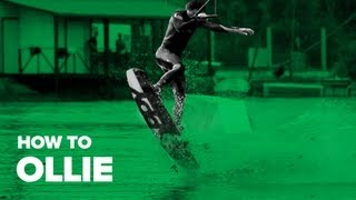 Как сделать ollie на вейке (How to Ollie on wakeboard)