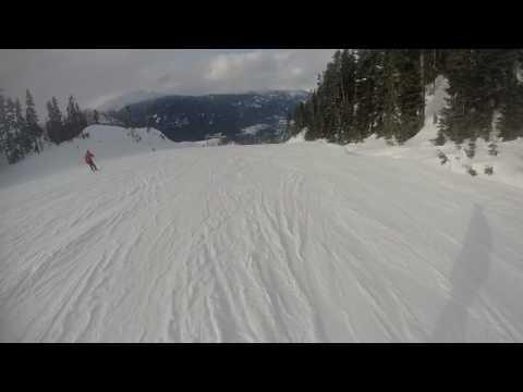 Whistler Blackcomb Ski Resort - (Almost) top to bottom on Dave Murray