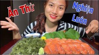 🇯🇵Triệu Like Cho Món Rong Nho & Cá Hồi Sống Chấm Tương Wasabi - Ngon Nhức Nhối#226