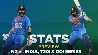 New Zealand v India, T20I & ODI Series: Stats Preview