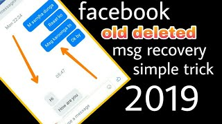how to recover facebook deleted messages || fb deleted msg recover new trick 2019 || by trick master
