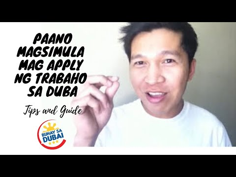 HOW TO START APPLYING A JOB IN DUBAI