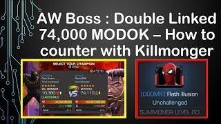 Alliance War Boss: How to beat Double Linked MODOK -- Killmonger Hard Counter [MCOC]