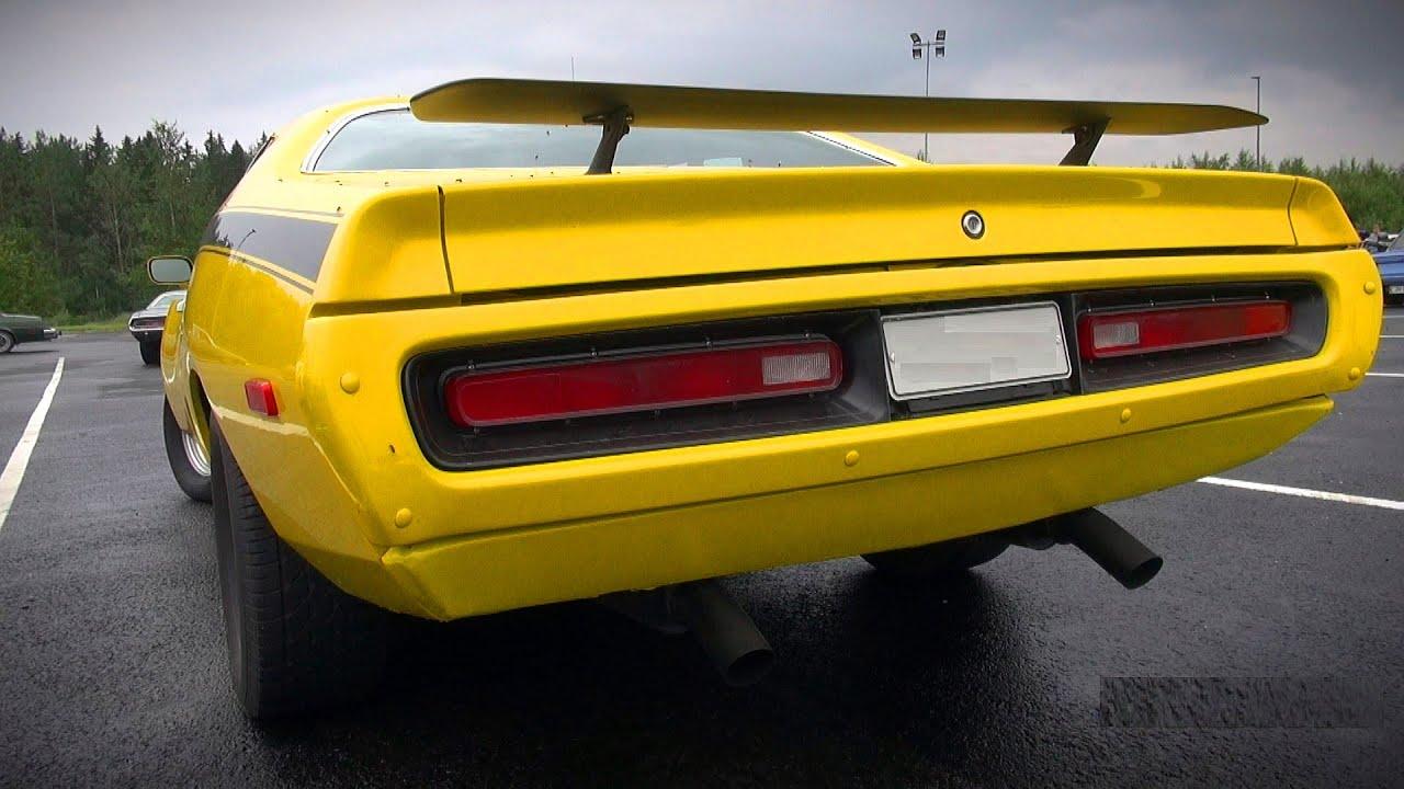 Muscle Cars And Classics Leaving Car Meet V Cruising