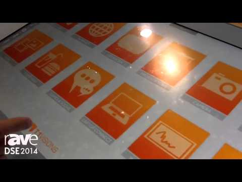 DSE 2014: T1Visions Demos Custom Wood Table with Integrated UHD Display