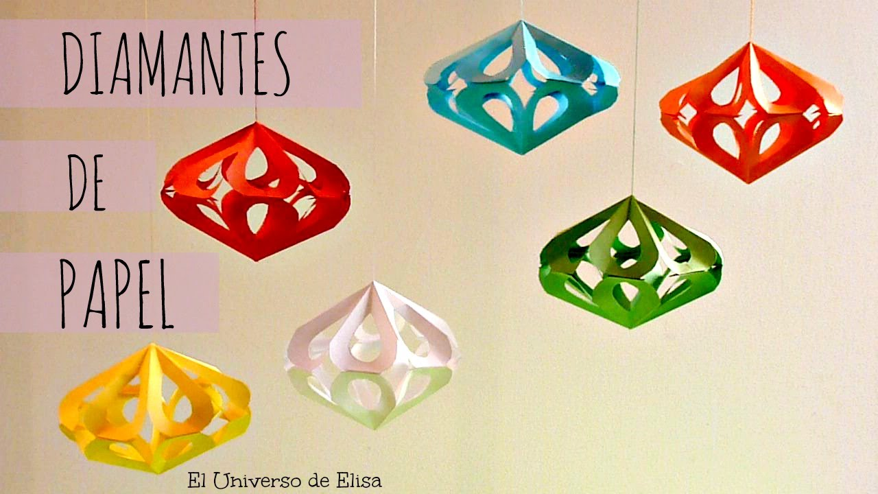 cmo hacer diamantes de papel decoracin kirigami fcil youtube