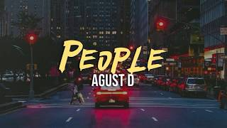 Download Mp3 Agust D - People  Indo Lirik