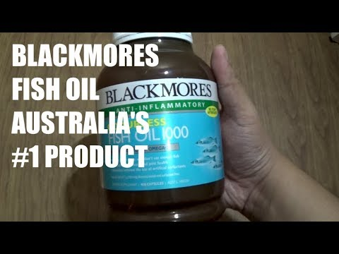 BLACKMORES From Australia - Fish Oil 1000mg 400 Capsules Unboxing Detail
