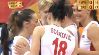 Japan vs Serbia  final6 (Full Match) Women's World Championship 2018