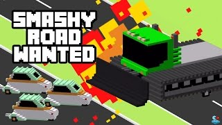 TROLLING POLICE Destroy the ARMY JEEPS and the TANKS!  SMASHY ROAD: WANTED