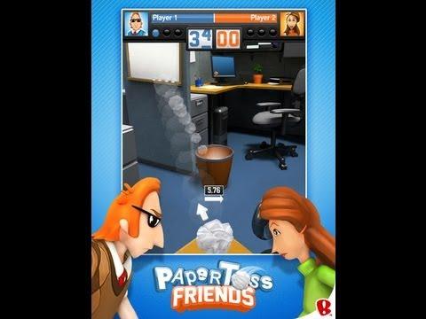 Paper Toss Friends GamePlay HD iPad - iPad 2 - New iPad