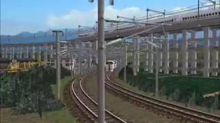 新VRM3★仮想越河駅レイアウトNo147特急その20 215系快速アクティー