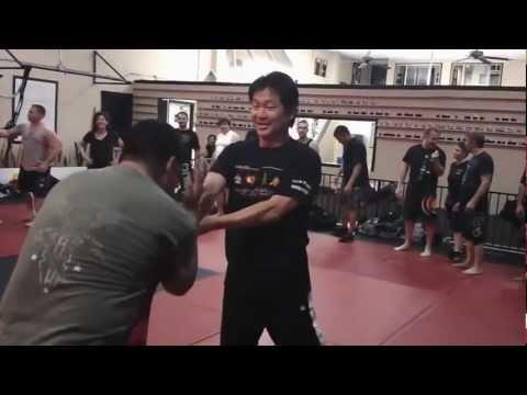 Master Simon Rhee teaching a class at TKC for Ron Balicki