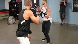 EMILY BETT RICKARDS AND TEAM ARROW UFC TRAINING