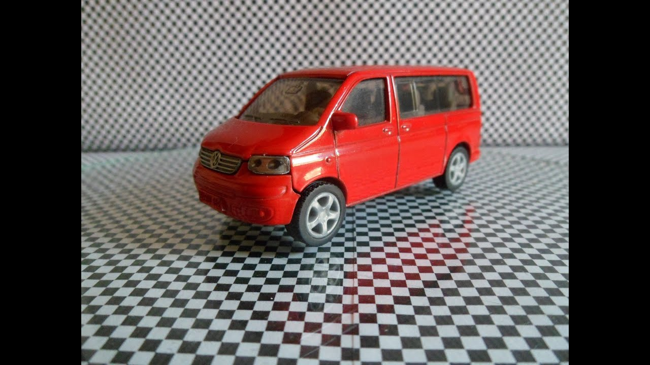 Volkswagen T5 Multivan Siku red (car review) VW Transporter Bus - YouTube