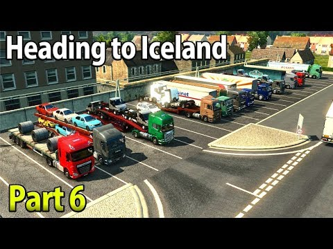 QUEUES AT THE PORT | Heading To Reykjavik, Iceland | Part 6 - Euro Truck Simulator 2