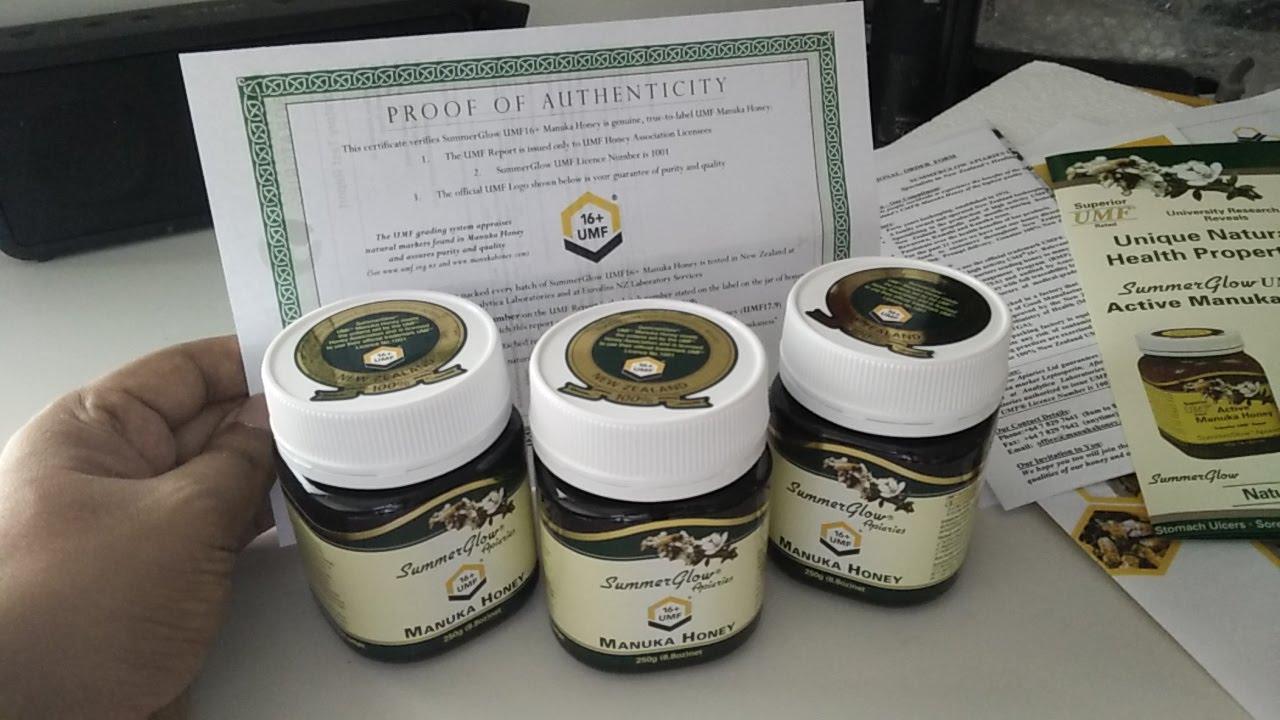 Manuka Honey With Laboratory Certification Umf Mgo Hmf Dha 16 Youtube