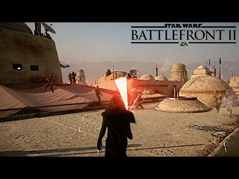 Kylo Ren Vs 1000 Troopers REALISTIC NO HUD - Star Wars Battlefront 2