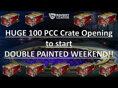 Huge 100 PCC Opening to Start DOUBLE PAINTED WEEKEND!! (Rocket League) thumbnail