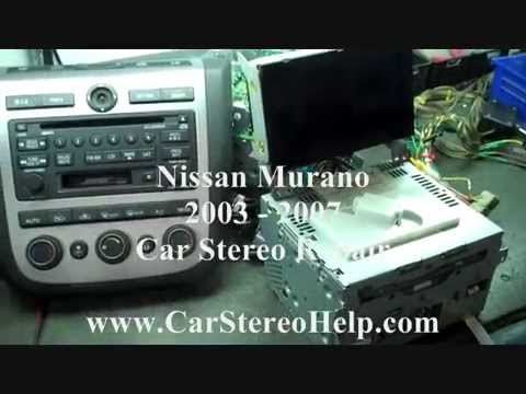 Nissan Murano Bose No audio Cd broken Stereo radio Repair 2003 - 2007