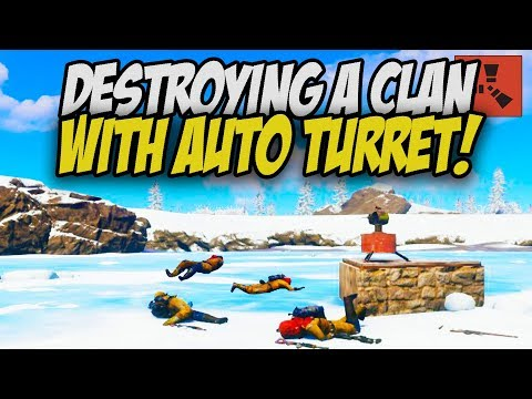 Destroying ENTIRE Clan with AUTO TURRET! - Rust Solo #3 thumbnail