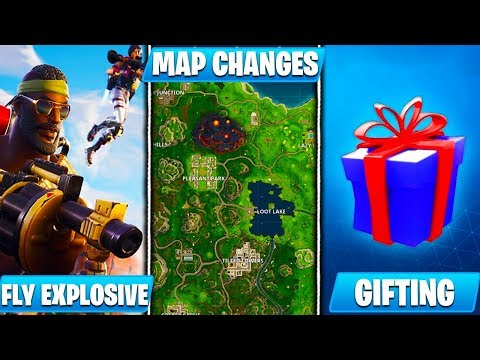 *NEW* Fortnite Content Update v5.10 Patch Notes (Gifting, Map Changes, Fly Explosives)
