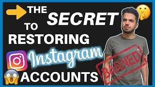 HOW TO RESTORE DISABLED INSTAGRAM ACCOUNT (100% SUCCESS RATE)