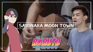 Cover images Scenarioart - Sayonara Moon Town (Acoustic Cover) | Boruto: Naruto Next Generations ED 2