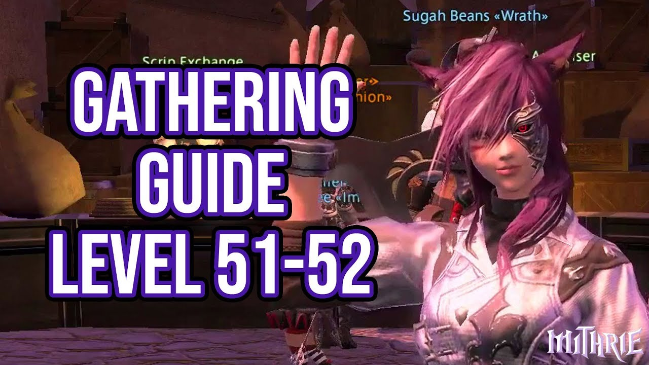 FFXIV Heavensward 3 0 0651 Gathering Guide Level 51 to 52