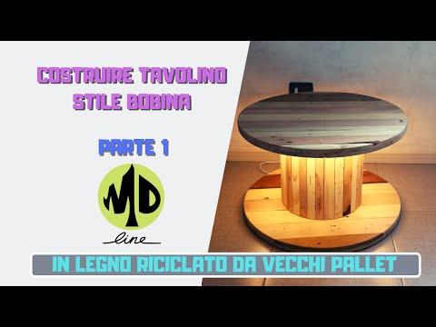"""DIY Costruire un tavolino """"bobina"""" da zero in pallet - prima parte"""