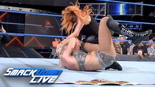 Becky Lynch ambushes Charlotte Flair following main event title match: SmackDown LIVE, Aug. 28, 2018