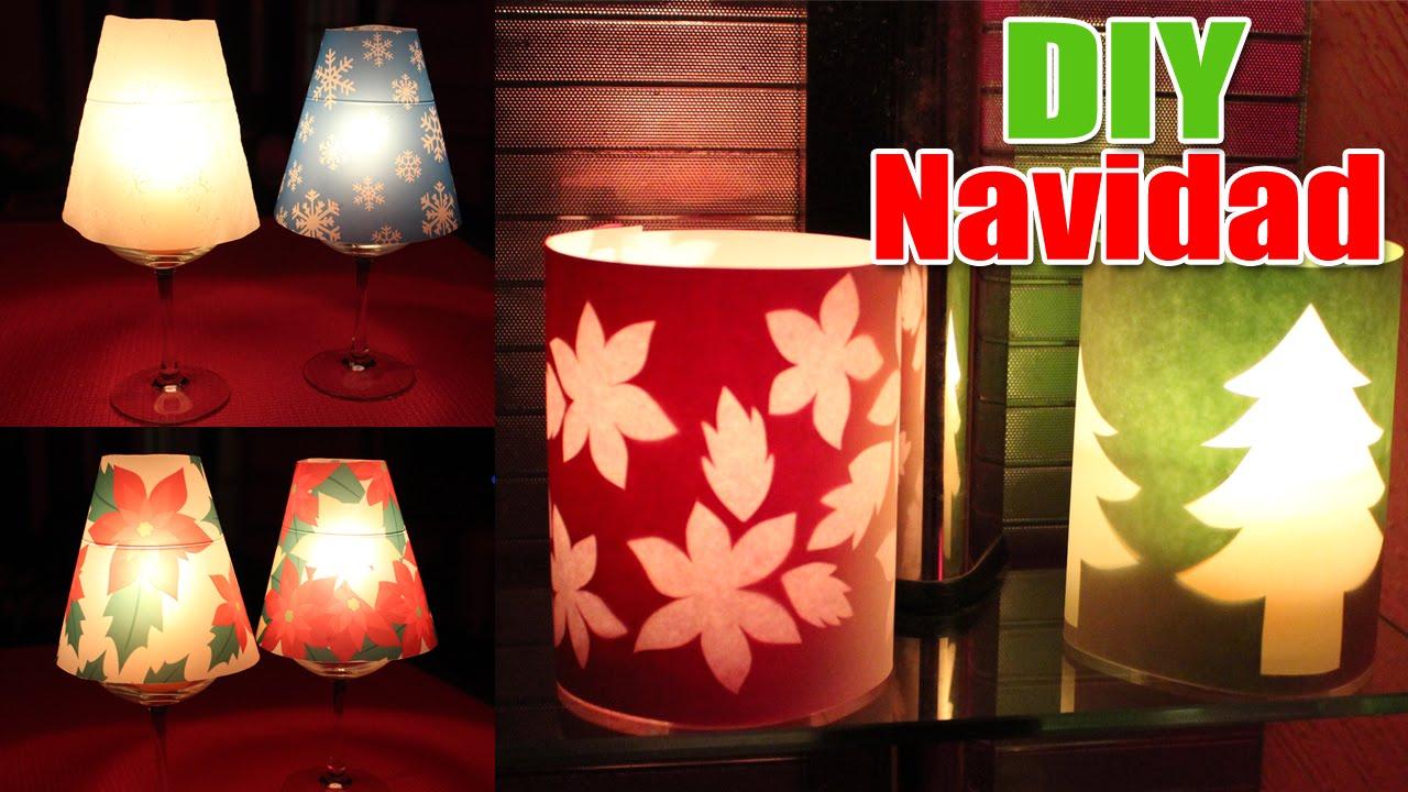 Ideas para decorar en navidad pantallas para velas de - Decorar con velas ...