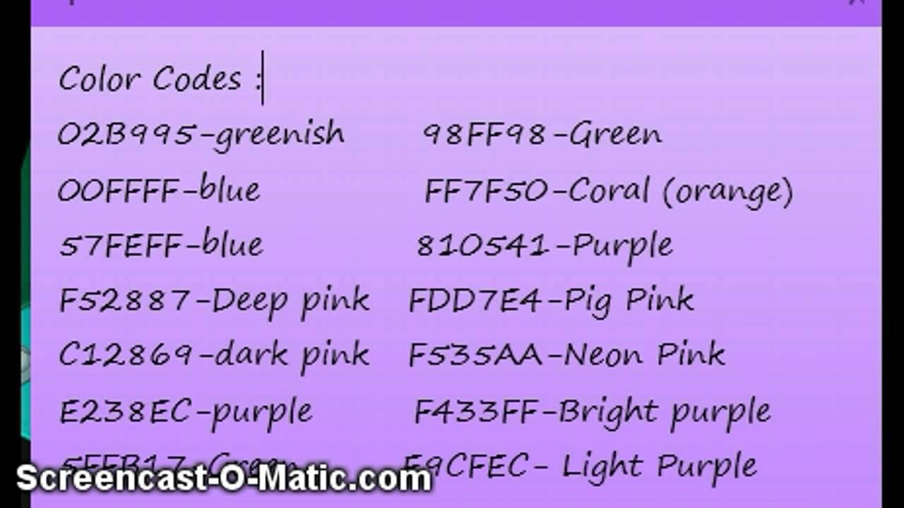 free color code woozworld youtube