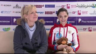 Евгения Медведева выиграла короткую программу в финале Кубка России