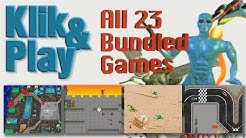 All 23 Klik & Play Games - the Games That Came Bundled with the Classic Game Making Toolkit