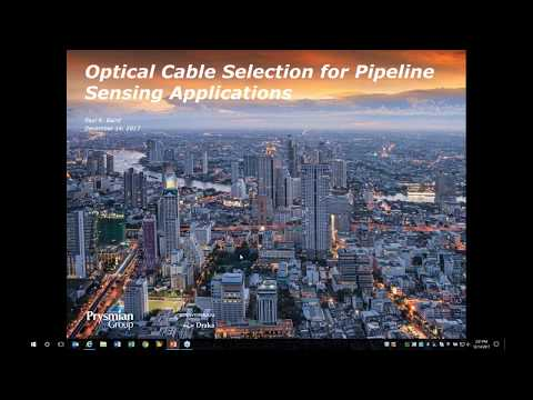 FOSA Webinar: Optical Cable Selection for Pipeline Sensing Applications   Prysmian Group
