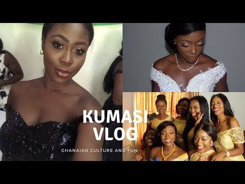 VLOG - TRIP TO KUMASI:  GHANAIAN WEDDING, BACHELORETTE PARTY, ASHANTI PALACE & MORE | JES ISCAH